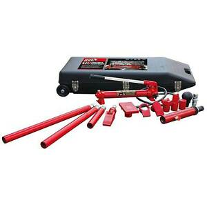 Torin Big Red T71001l 10 Ton Hydraulic Portable Ram Auto Body Repair Kit W Case