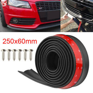 Car Front Bumper Lip Splitter Body Side Spoiler Protector Rubber Universal 100