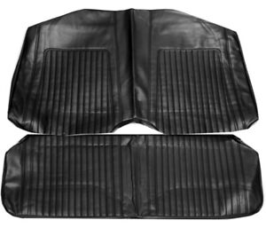 67 68 Camaro Standard Rear Seat Upholstery Covers Black Coupe Pui New