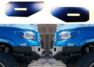 Blazing Blue Pearl Vinyl Decals For 2016 2018 Toyota Tacoma Side Marker Lights
