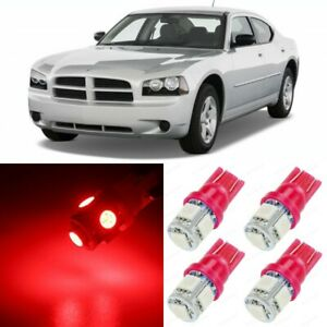 12 X Ultra Red Interior Led Lights Package For 2006 2010 Dodge Charger Tool