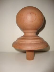 Wood Finial Unfinished For Newel Post Finial Or Cap 3