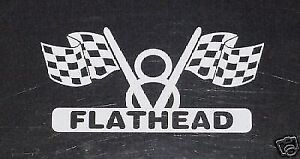 V8 Flathead Engine Decal For Hot Rod Classic Ford Race Car Or Muscle Car