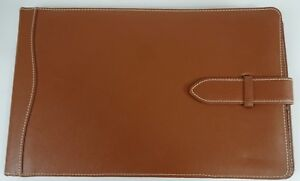 Used Lillian Vernon Genuine Leather Field Notes Notebook Legal Pad Cover