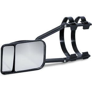Universal Dual Towing Mirror Adujustable Clear View For Hauling Moving 1 Piece