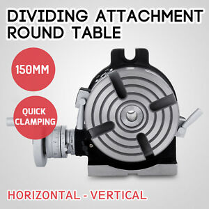 Dividing Head Round Rotary Working Table Metal Milling Machine 4 jaw Chuck