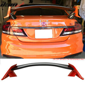 Fits 12 15 Civic 9th Type R Trunk Spoiler Painted Glossy Black Rallye Red