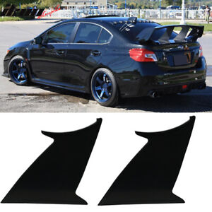2pc Fits 15 19 Subaru Wrx Sti Abs Trunk Spoiler Wing Stabilizer Support Add On