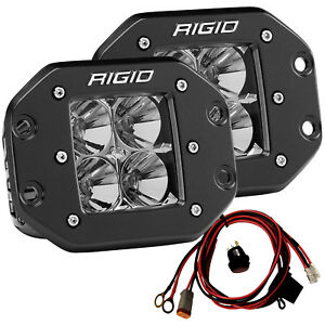 Rigid 212113 D series Pro Led Lights Pair Of Flush Mount Dually Flood Projection