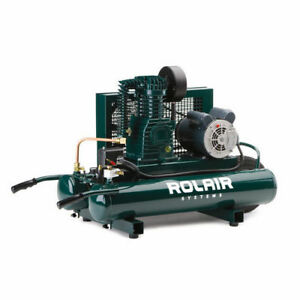 Rolair 9 Gallon 1 5 Hp Electric Portable Belt Drive Air Compressor 5715k17 New