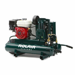 Rolair 9 Gallon 163cc 5 5 Hp Portable Belt Drive Air Compressor 4090hk17 New