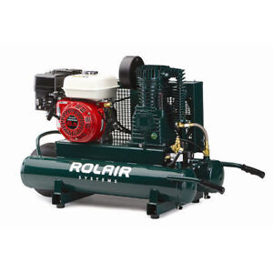 Rolair 9 Gallon 196cc 6 5 Hp Portable Belt Drive Air Compressor 6590hk18 New