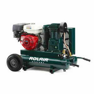Rolair 20 Gallon 270cc 9 Hp Portable Belt Drive Air Compressor 7722hk28 New