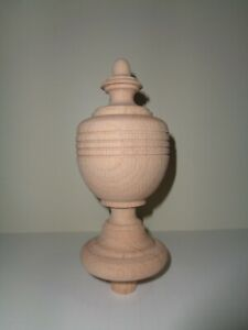 Wood Finial Unfinished For Newel Post Finial Or Cap Finial 39