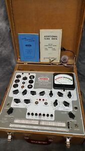 Vintage Stark Mutual Conductance Tube Tester Model 9 66 And Accessories Working