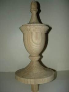 Wood Finial Unfinished For Newel Post Finial Or Cap Finial 42