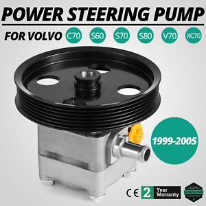 Power Steering Pump For 2000 2004 Volvo V70 2001 2004 S60 W Pulley