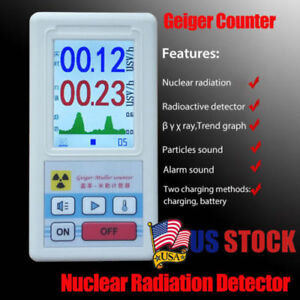Nuclear Radiation Detector Geiger Counter X ray Beta Gamma Tester Gm T