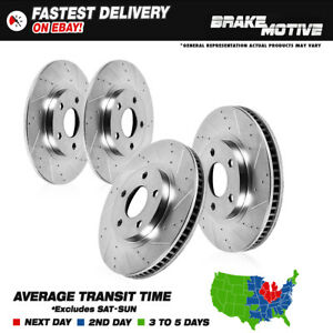 Front Rear Drilled And Slotted Brake Rotors Awd Audi A4 Quattro B5 Vw Passat