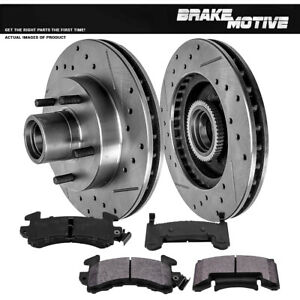 Front Drill Slot Brake Rotors Metallic Pads For Chevy S 10 Jimmy Sonoma 2wd