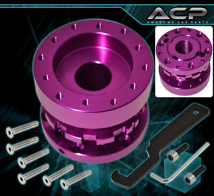 For Chevy Adjustable Steering Wheel Hub Adapter Extender Works W Mugen Purple