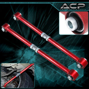 Red Adjustable Rear Lateral Control Arm Bar Kit For 84 87 Toyota Corolla Ae86