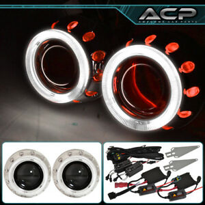 Universal 2 5 Bi Xenon Headlight Retrofit Projector Round Ccfl Halo Ring Hid