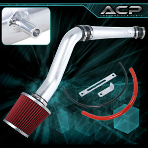 2 75 Jdm Red Chrome Cold Air Intake Racing System For 92 95 Civic 93 97 Del Sol
