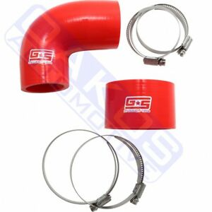 Grimmspeed Tmic Silicone Coupler Kit Red For 02 07 Wrx 04 Sti 090108