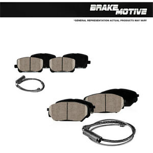 Front And Rear Ceramic Brake Pads For 1995 2001 Bmw 740i 740il E38