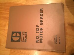 Caterpillar Cat 112f 112 Motor Grader Tractor Parts Manual S n 89j