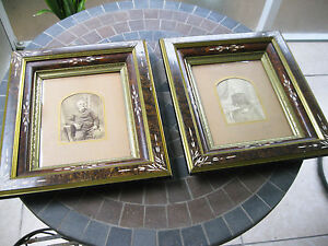 2 Antique Victorian Eastlake Shadow Box Ornate Picture Frames 13 1 2 X 15 1 2