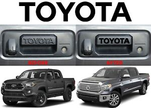 Gloss Black Toyota Vinyl Decal Letters For Tacoma Tundra Tailgate Handle New Usa