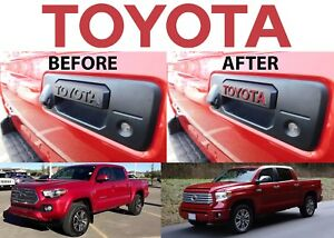 Barcelona Red Toyota Vinyl Decal Letters For Tacoma Tundra Tailgate Handle New