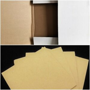 Combo 50 Mailers 100 Pads Cardboard Shipping Boxes 12 Lp Vinyl Record Album