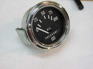 Vintage Stewart Warner 100lb Oil Pressure Gauge 2 1 8 Electric Panel Mounting