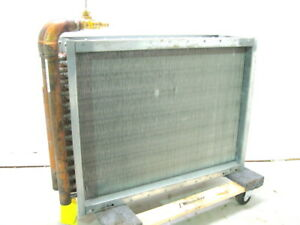 Finned Coil Water To Air Heat Exchanger 24 X 30 With 1 Npt Inlet