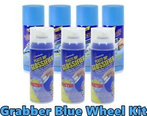 Performix Plasti Dip Muscle Car Grabber Blue Glossifier Wheel Kit Spray Can