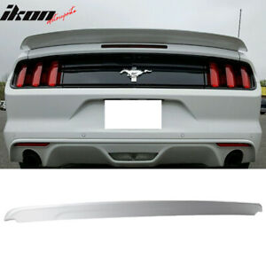 Fits 15 19 Ford Mustang Track Pack Trunk Spoiler Painted Yz Oxford White
