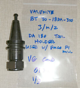 Valenite Da180 Collet Chuck Used With Emco F1 Cnc Mill Pcturn 50