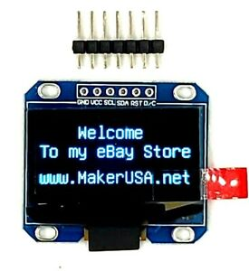 Hq 1 3 128 64 Oled Graphic Display Module Spi Lcd Blue