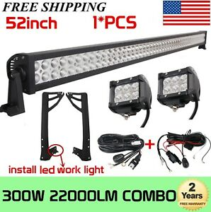 17inch 90w Led Work Light Bar Amber White Dual Color Combo Offroad Suv Ute 18