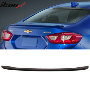 Fits 16 18 Chevy Cruze Oe Style Trunk Spoiler Matte Black Abs Plastics