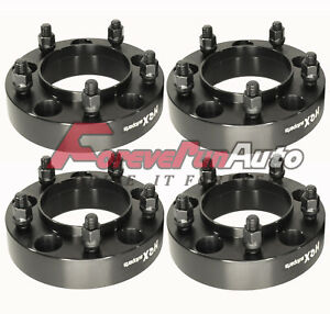 4pc 1 25 5x150 Black Hub Centric Wheel Spacers Adapters For Toyota Tundra Lexus