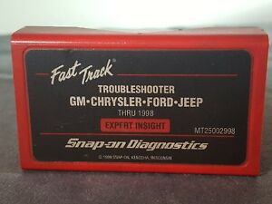 Snap On Tools Mt2500 2998 Troubleshooter Cartridge Gm Ford Chrysler Jeep Thru 98