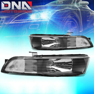 For 1999 2003 Mitsubishi Galant Black Clear Side Headlight Lamps Replacement