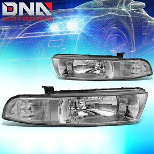 For 1999 2003 Mitsubishi Galant Chrome Clear Side Headlight lamps Replacement