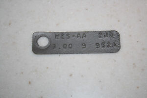 Ford 9 Inch 3 00 Open Rear End Id Tag Mustang