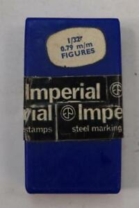 Nos Imperial Made In England Toolmakers 1 32 Number Stamp Box Set