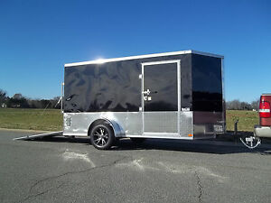 6x12 V nose Enclosed Cargo Motorcycle Trailer New Style Atp 360 And Ramp Door